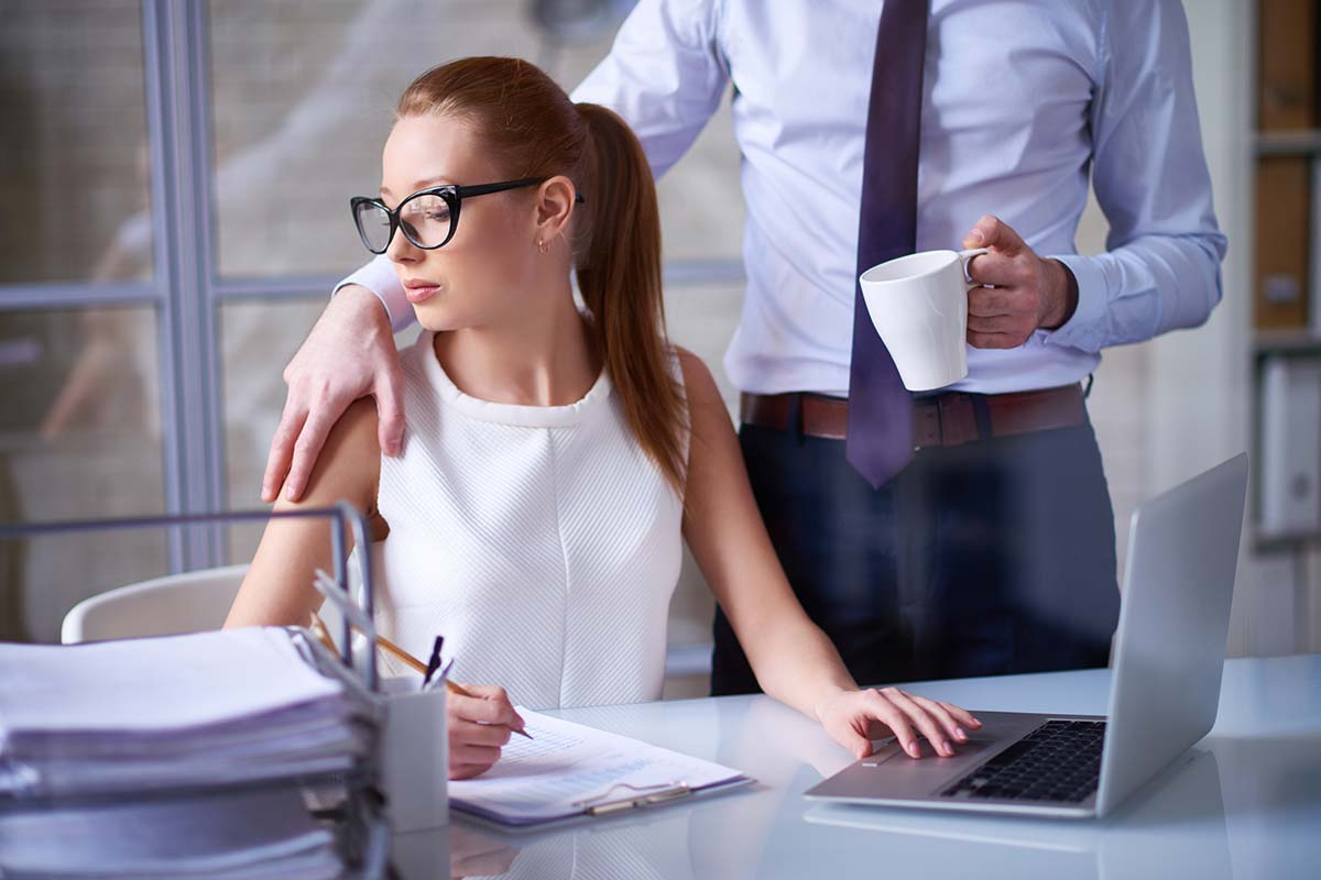 workplace sexual harassment image
